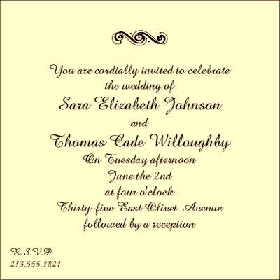 Wedding Invitation Quotes Samples (For Real Life) | 21st - Bridal World - Wedding Ideas and Trends