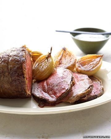 Roast Bottom Round Beef with Horseradish Sauce - Martha Stewart Recipes