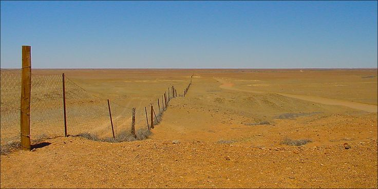The Dog Fence at The Breakaways -the longest man made structure in the world, stretching 5,300 km from the Great Australian Bight in far-western South Australia to the Queensland coast.