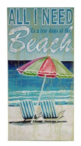 All I Need Is A Few Days At The Beach Block Sign