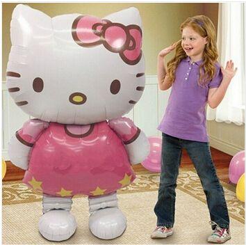 Cute Hello Kitty foil balloons cartoon birthday decoration children holiday gift 80*48cm