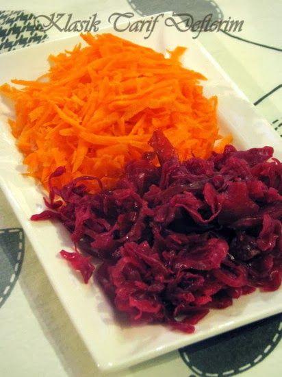 Carrot and Red Cabbage Salad --- Kırmızı Lahanalı Havuç Salatası --- Insalata di Carota e Cavolo Rosso