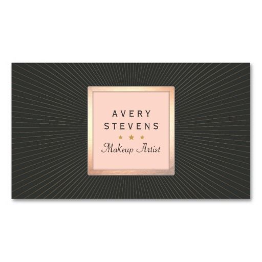 330 best makeup artist business card templates images on pinterest vintage makeup artist gold and pink sunburst black business cards this great business card design is available for customization all text style colors colourmoves