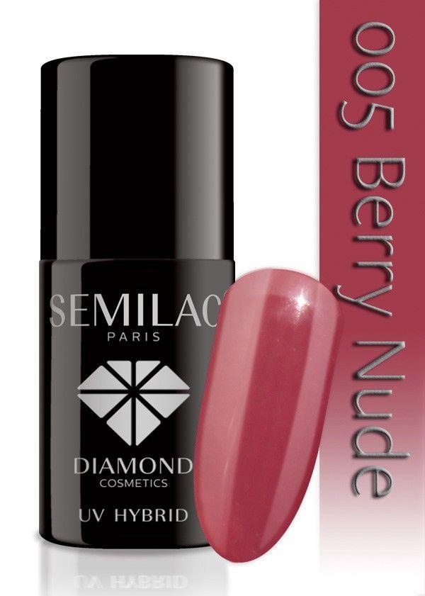 Semilac Lakier Hybrydowy 005 Berry Nude 7ml