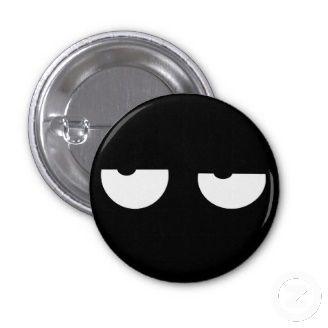 Popular Cool Pin Buttons. Cartoon Eyes.