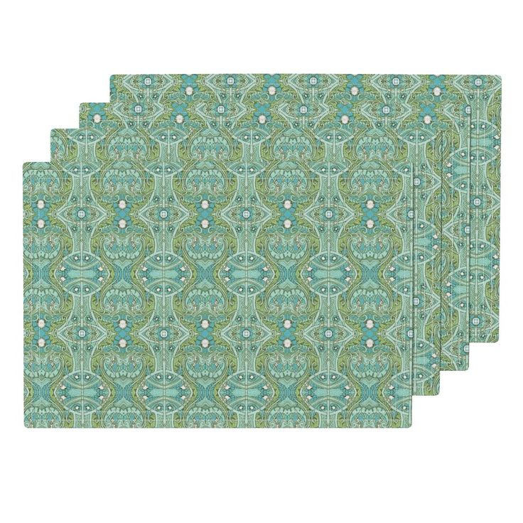 Lamona Cloth Placemats featuring With Psychedelic Heart and Victorian Excess by edsel2084 | Roostery Home Decor
