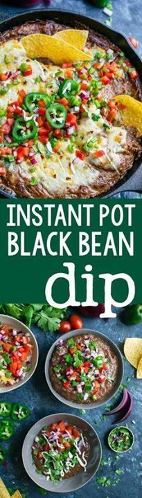 Instant Pot Black Be Instant Pot Black Bean Dip is a total...  Instant Pot Black Be Instant Pot Black Bean Dip is a total breeze to throw together! No cans needed! Simply grab a bag of dried beans and get ready for a party-perfect vegetarian dip thats easy make-ahead and SO delicious! Recipe : http://ift.tt/1hGiZgA And @ItsNutella  http://ift.tt/2v8iUYW
