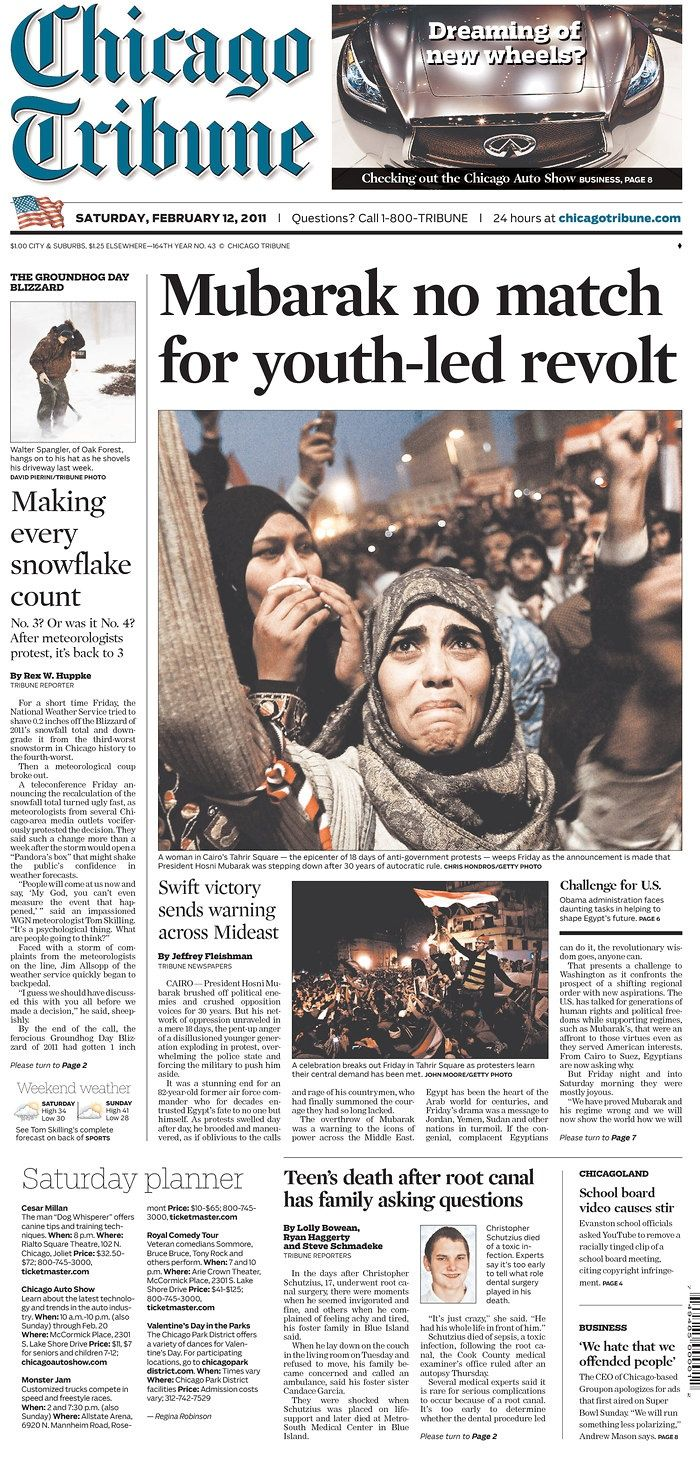 Egyptian president Hosni Mubarak steps down after youth-led revolt ...