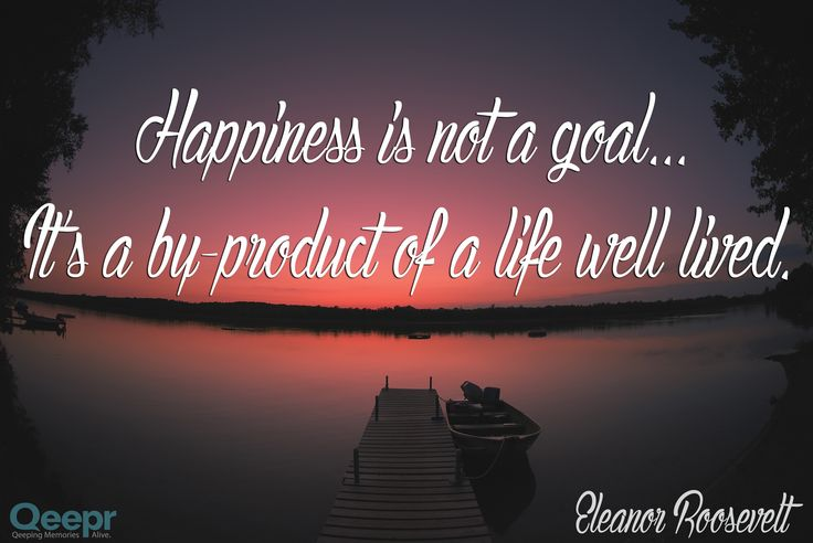 Live well, and happiness will follow!