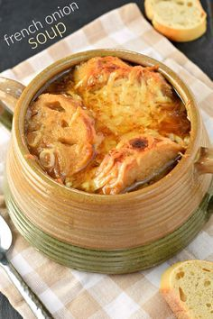 This flavorful, hearty French Onion Soup is a pure bowl of comfort for any night of the week. You'll love the sweet onions, rich broth and toasted cheese on top!