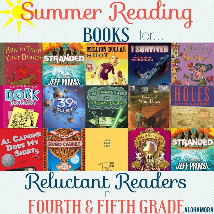 Summer Reading Book list for reluctant readers aka kids who don' tlike to read. T his book list gives several great books for hard to please readers, both girls and boyg, and the book is broken down by reader. The students, girls/boys/reluctant readers, 4th and 5th grade, will enjoy this book immensely. Alohamora Open a Book. http://www.alohamoraopenabook.blogspot.com/