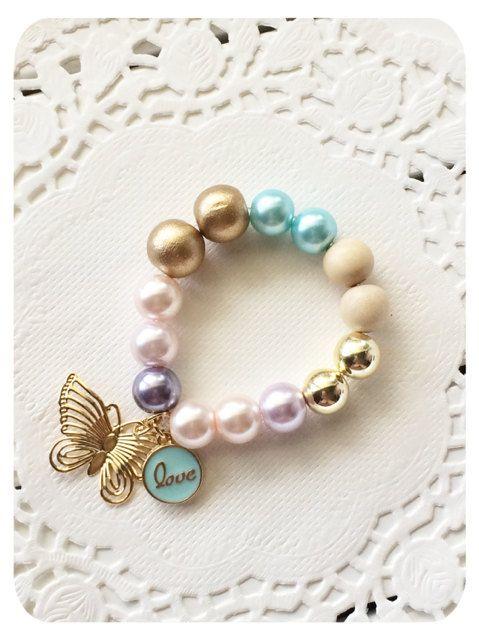 Baby Bracelet Girls Bracelet Butterfly Bracelet by AllureDesignsAU