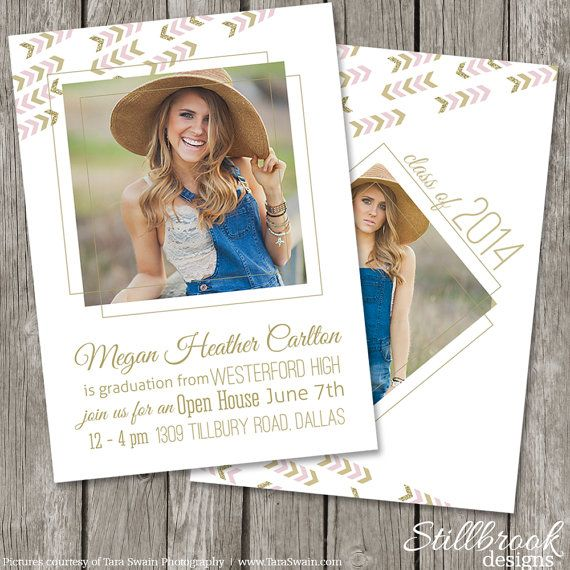 senior announcement template senior graduation invitation photo