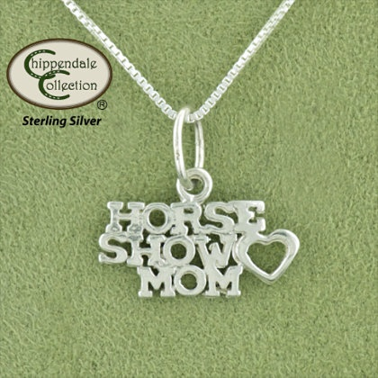 Chippendale Horse Show Mom Pendant and Equestrian Necklaces and Pendants | EQUESTRIAN COLLECTIONS.COM