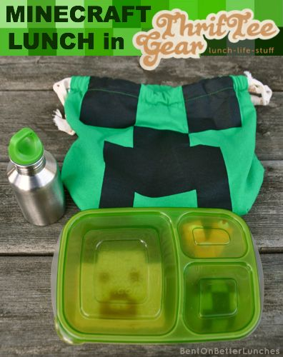 ThrifTee Gear bag review, GIVEAWAY & MineCraft bento school lunch