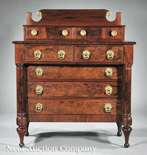 Classical Empire Chest. (American)