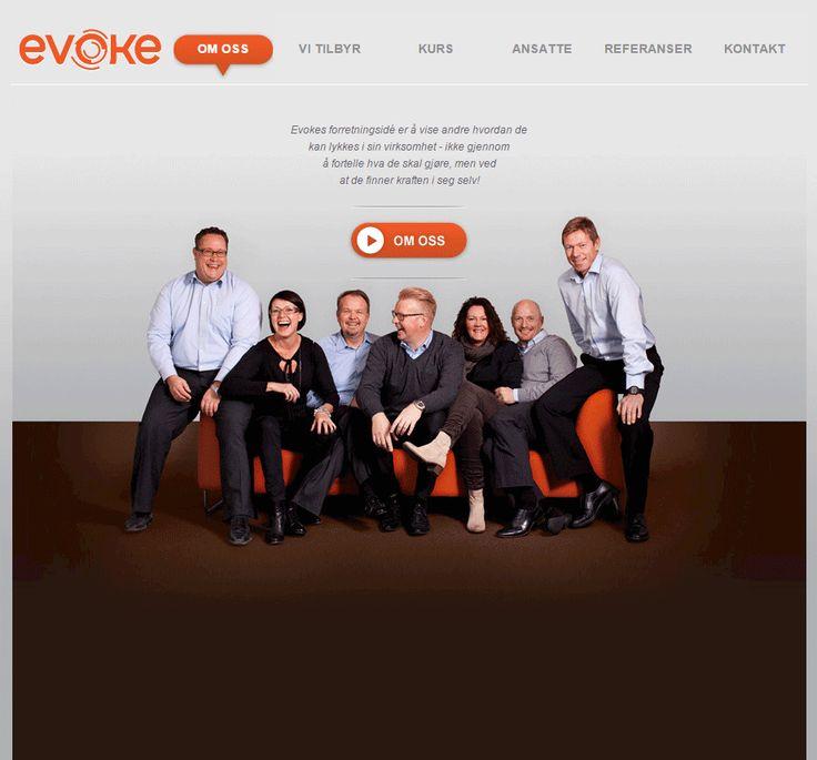 Slik ser Evokes Idium Web+side ut.