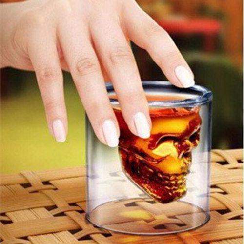 4 pcs Crystal Skull Shot glasses Crystal Skull Pirate Shot Glass Drink Cocktail Whisky Beer Cup Vodka shot Party Copo