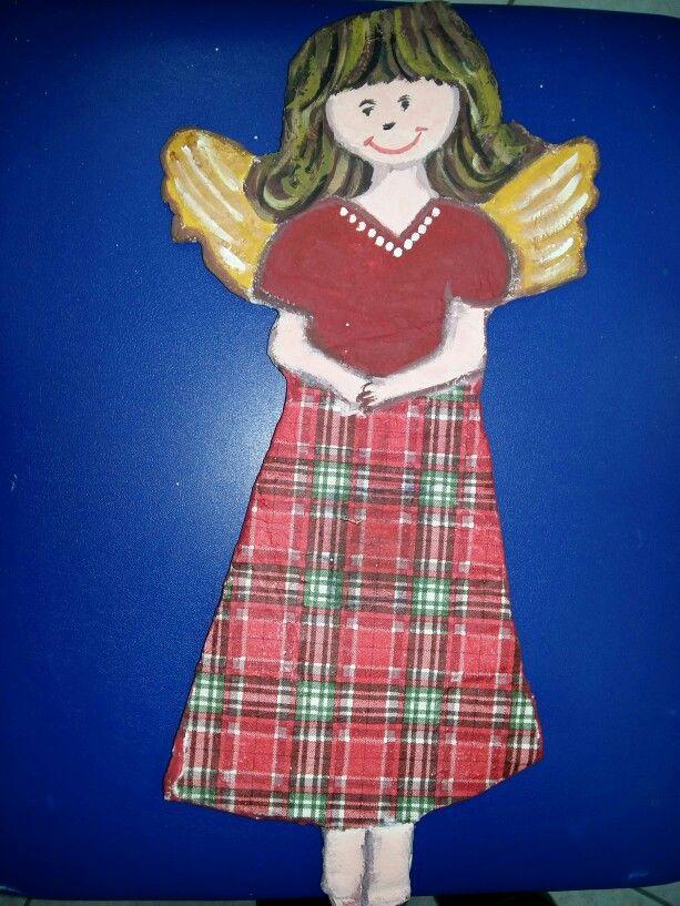 Αγγελάκι με αλευροκολλα και ζωγραφική!  Merry Christmas