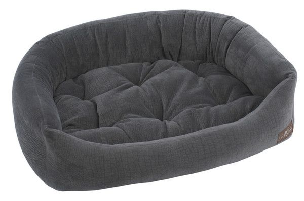 Loving this modern dog product from 3 Shades of Dog.  Storm Velour Napper Bed