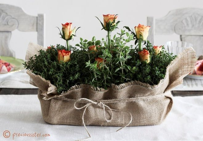 Herb Centerpieces For Wedding | ... Rose Wedding Centerpieces | Budget Brides Guide : A Wedding Blog