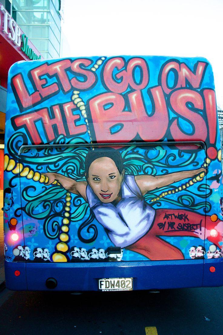Back of the Bus. Java Dance Company. Taranaki International Arts Festival. Photographer Yasmine Ganley, Cartoon of dancer Natalie Hona