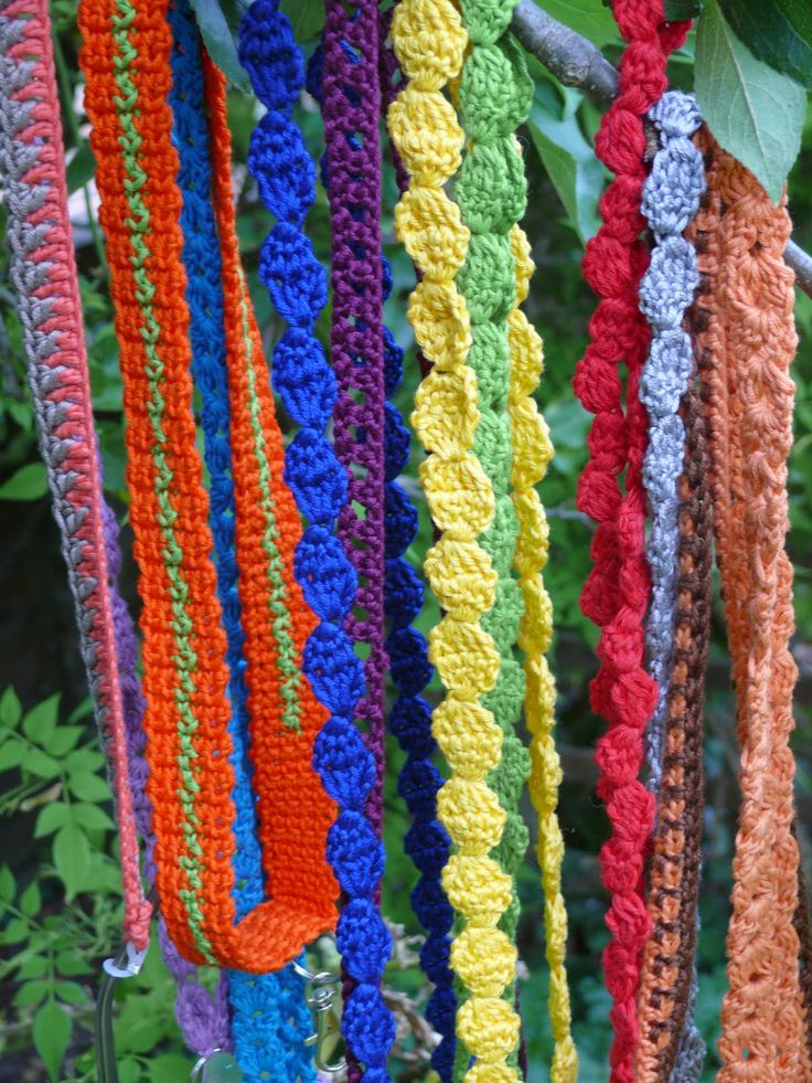 Crochet lanyards