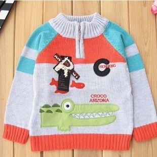 Croco Jumper - Childrens & Baby Clothing Store - Fudge Kids UK