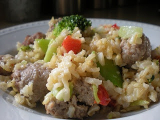 Delectable Dining: Sausage, Broccoli, Brown Rice and Parmesan Dinner