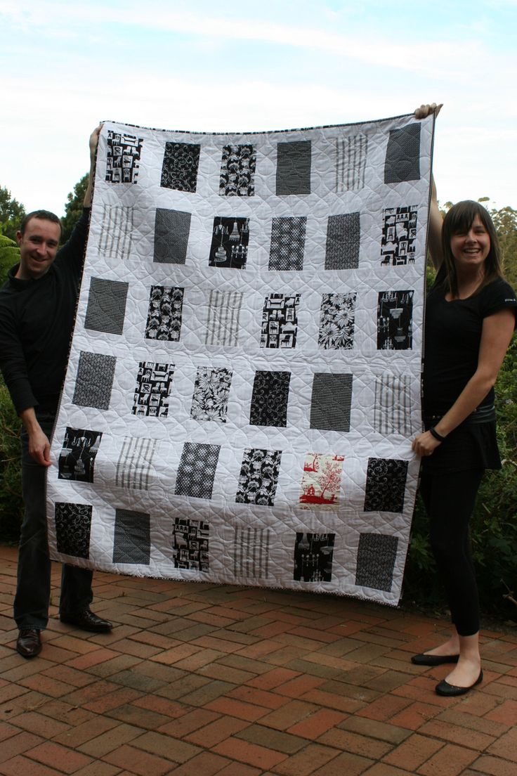 simple quilt with beautiful results...a great way to showcase favorite fabrics or choose one color scheme...