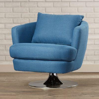 Found it at Wayfair - Sitton Fabric Swivel Club Chair