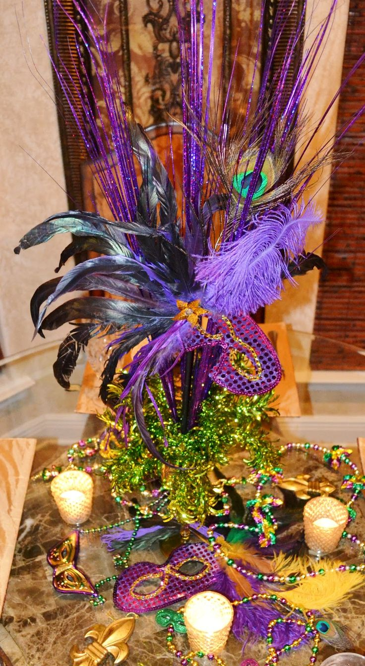 107 best mardi gras party images on pinterest mardi gras party elegant mardi gras table centerpieces at the centerpiece itself amipublicfo Images