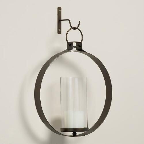 One of my favorite discoveries at WorldMarket.com: Bronze Metal Ethan Round Pendant Sconce
