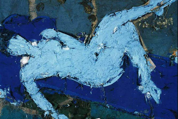 Manolo Valdés Desnudo Azul