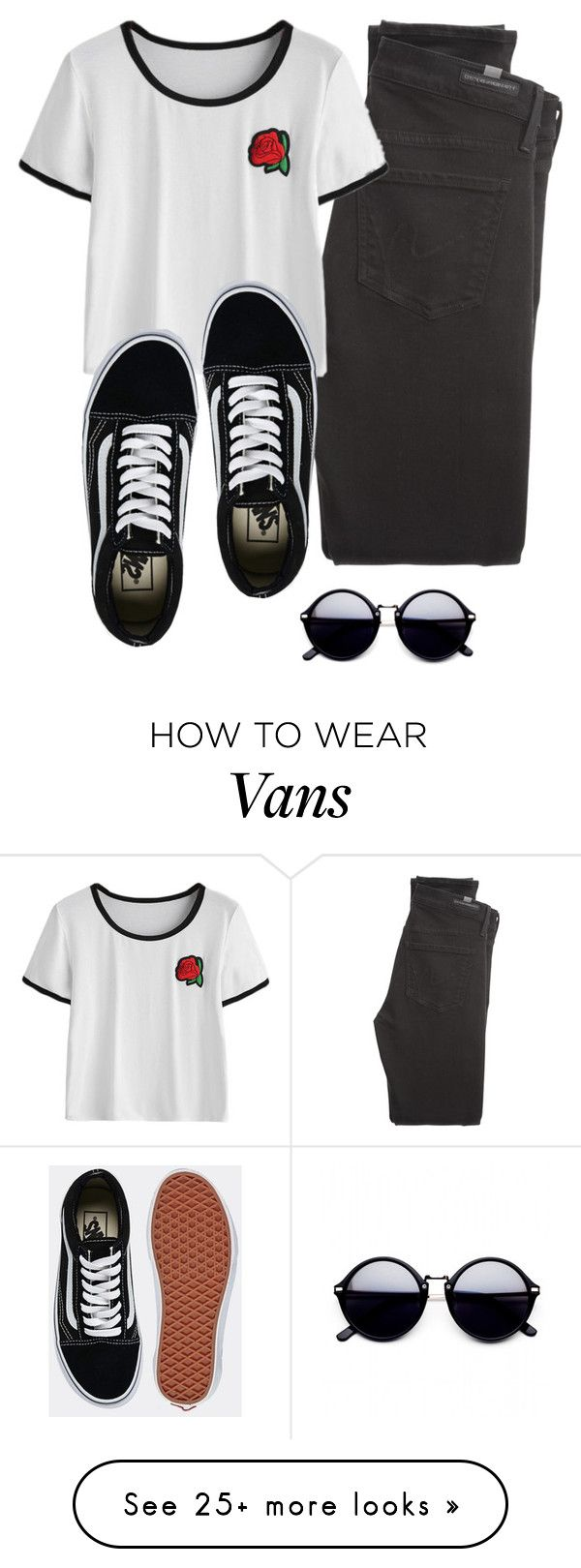 """Vans"" by denaexr on Polyvore featuring Citizens of Humanity and Vans"