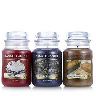 Yankee Candle Grandmau0027s Kitchen Set Of 3 Large Jars