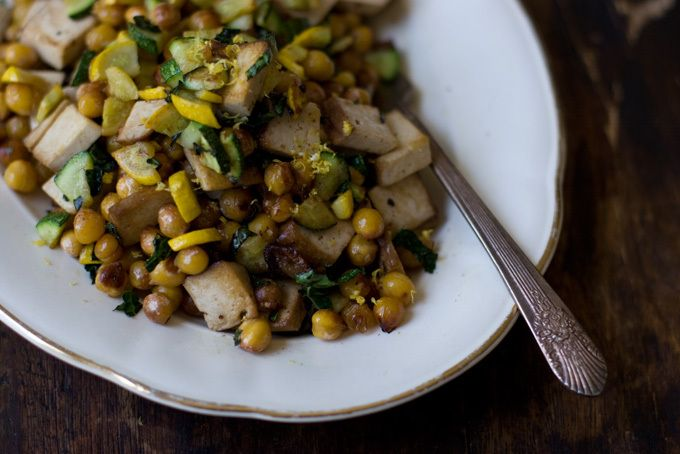 Lemony Chickpea Stir-fry. Food Score: 9.2.