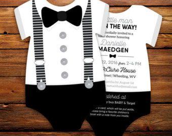 Invitación 10 pajarita bebé ducha invitaciones Marina de