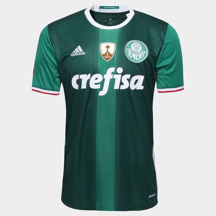Camisa Adidas Palmeiras I 2016 s/nº - Torcedor - Verde e Branco