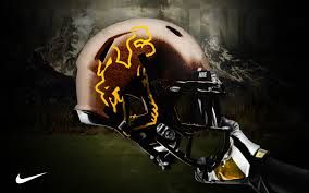 wyoming football helmet - Google Search