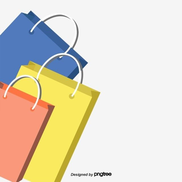 Cartoon Shopping Bags In Three Colors Element Packing Cartoon Png Transparent Clipart Image And Psd File For Free Download In 2020 Cartoons Png Colorful Backgrounds Clip Art