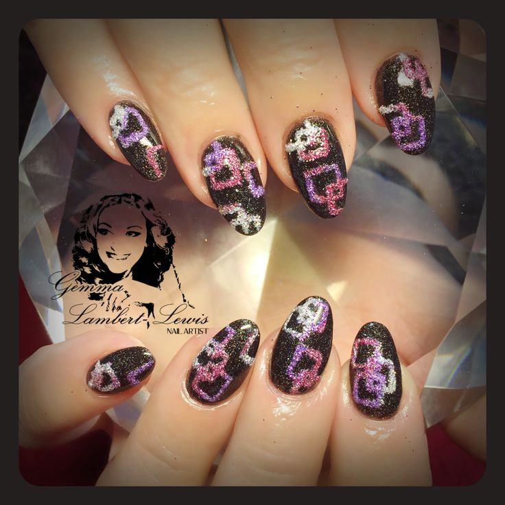 Sands design with glitter