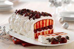 recette de Gâteau facile fourré à la cerise avec copeaux de chocolat - Kraft Canada