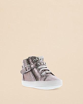 MICHAEL Michael Kors Girls' Baby Ivy Rory High Top Metallic Sneakers - Baby | Bloomingdale's