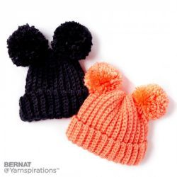 Sizes: 6-24 moths. Free crochet pattern. Pattern category: Baby Hats. Bulky weight yarn. 150-300 yrds. Features: Pom-pom. Easy difficulty level.