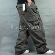 Mens Baggy Cargo Pants | eBay