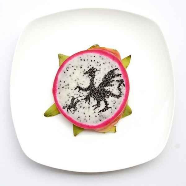 Hong Yi : obras de arte con comida