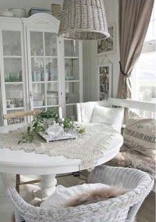 meubles shabby chic gris