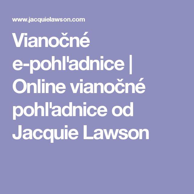 Vianočné e-pohľadnice | Online vianočné pohľadnice od Jacquie Lawson