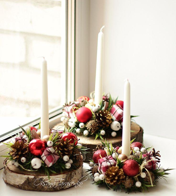 Композиции со свечами фото